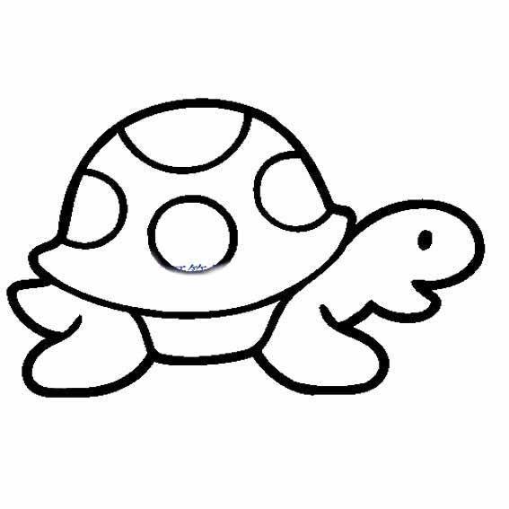 表情 可爱的小乌龟简笔画海洋动物简笔画 育才简笔画 表情