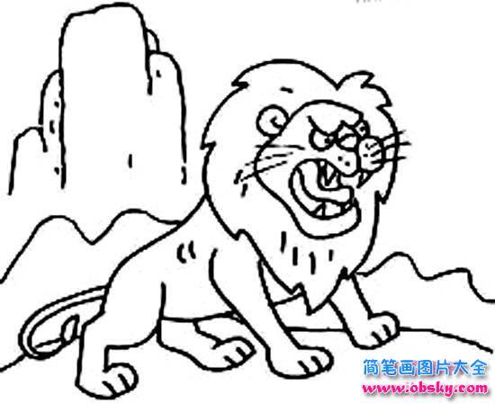 表情 凶猛的狮子简笔画大全 简笔画狮子 儿童简笔画图片大全 表情