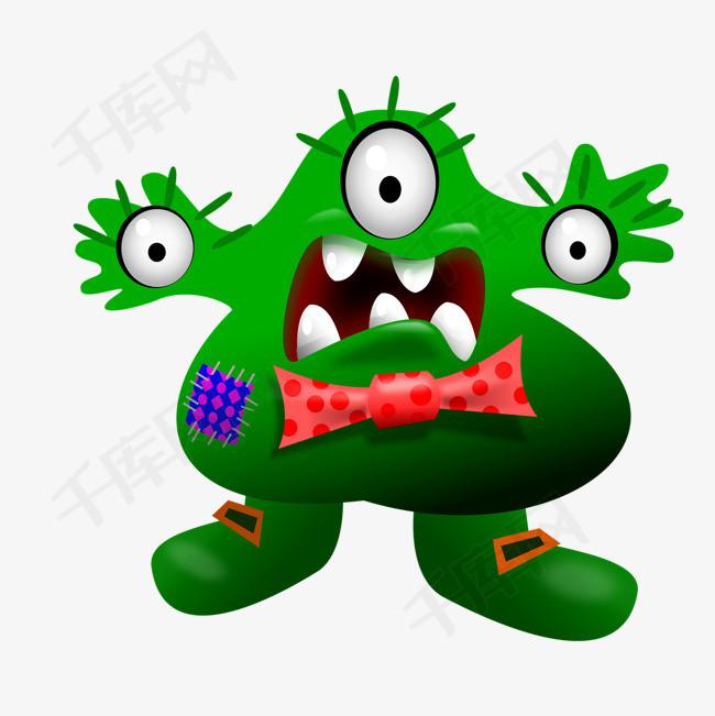 表情 手绘卡通绿色小怪兽素材图片免费下载 高清png 千库网 图片编号图片