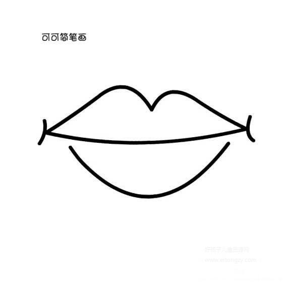 表情 微笑的嘴巴简单画法 人物简笔画 ertongzy.com 表情