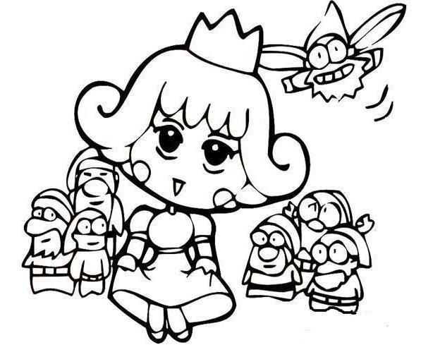 表情 白雪公主简笔画,绘画图片,儿童文艺 绘艺素材网 表情