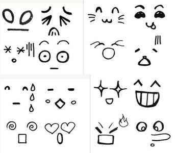 表情 面部表情简笔画 人物面部表情 卡通面部表情 面部表情素材 看猎奇 表情