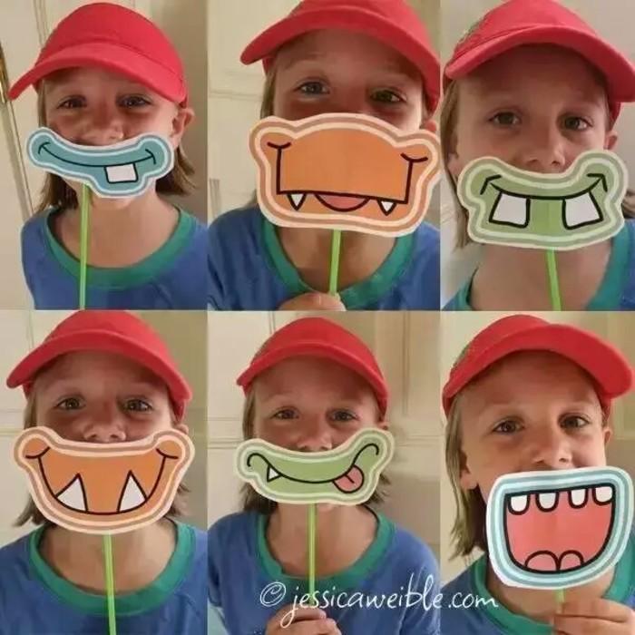 表情 趣味可爱的大嘴卡纸面具纸艺手工制作教程儿童游乐道具制作 唯美系 表情
