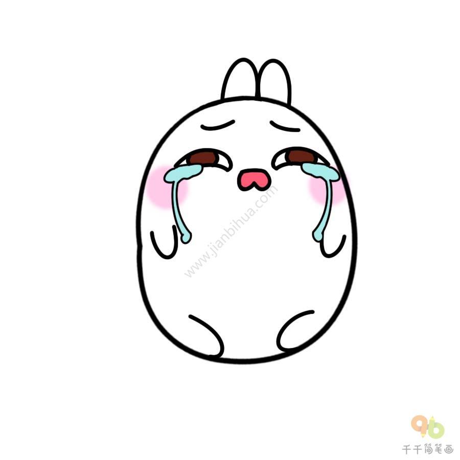 表情 土豆兔流泪表情包 表情包 千千简笔画 表情