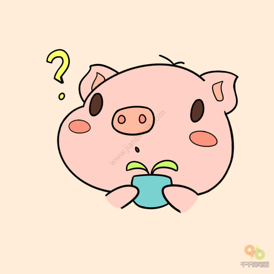 表情 q版小猪表情包大全简笔画大全千千简笔画图片教程 表情