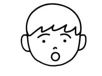 表情 简笔画表情 惊讶简笔画的画法 爆爆简笔画 表情