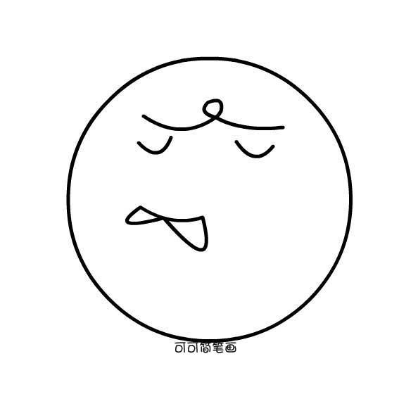 表情 简笔画表情图片 3 卡通动漫简笔画 表情