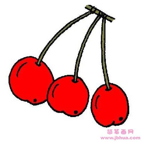 表情 儿童水果简笔画图片 红色的樱桃 简笔画网 表情