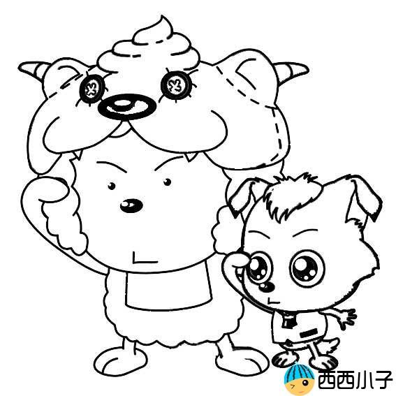 表情 懒羊羊和小灰灰的简笔画图片 格格 表情