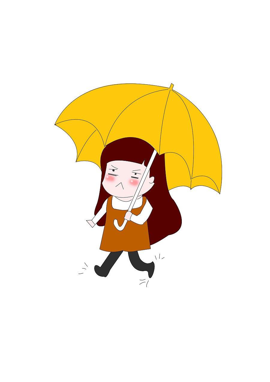 雨中漫步唯美治愈系图_下雨天撑伞美女_唯美图片_