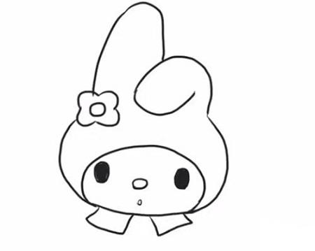 表情 卡通角色兔子简笔画的画法 幼儿可爱小兔简笔画步骤 适合孩子画