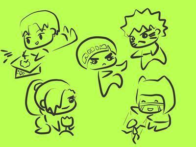 表情 q版表情包简笔画 第4页 一起QQ网 表情