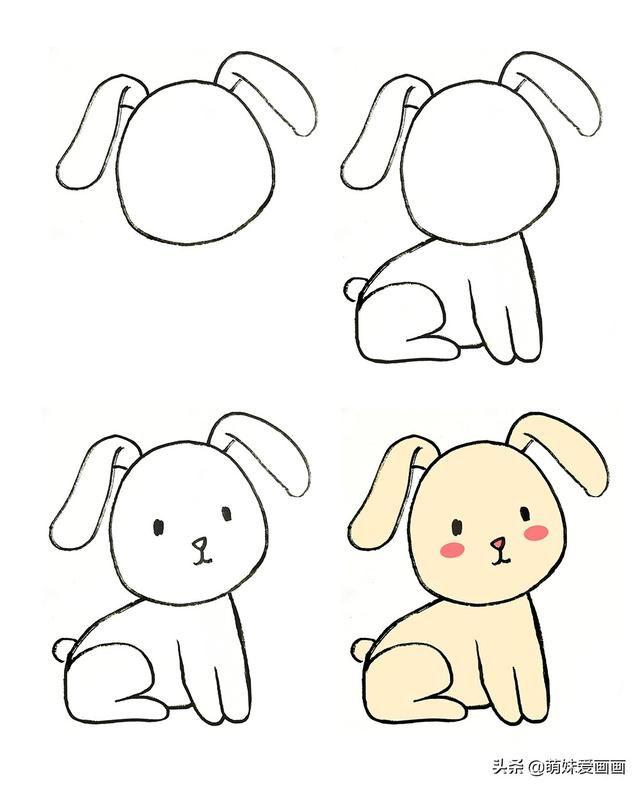 表情 表情可爱的兔子简笔画图片大全,15只各种各样的卡通简笔画兔 汽车图片网 表情