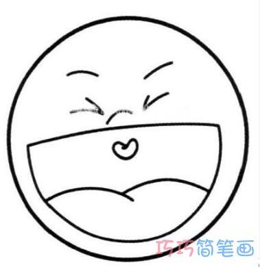 表情 喜怒哀乐表情怎么画圆脸表情简笔画图片 巧巧简笔画 表情