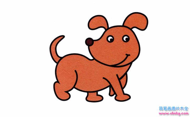 表情 小狗简笔画画法 怎么画小狗的简笔画 简笔画动物 儿童简笔画图片