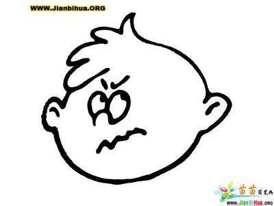 表情 生气发火简笔画表情 第1页 一起QQ网 表情