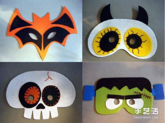 表情 布艺万圣节面具DIY 万圣节恐怖面具手工制作 手艺活网 表情