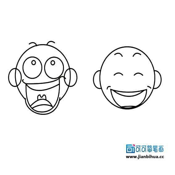 表情 同前可可简笔画 www.jianbihua.cc 表情