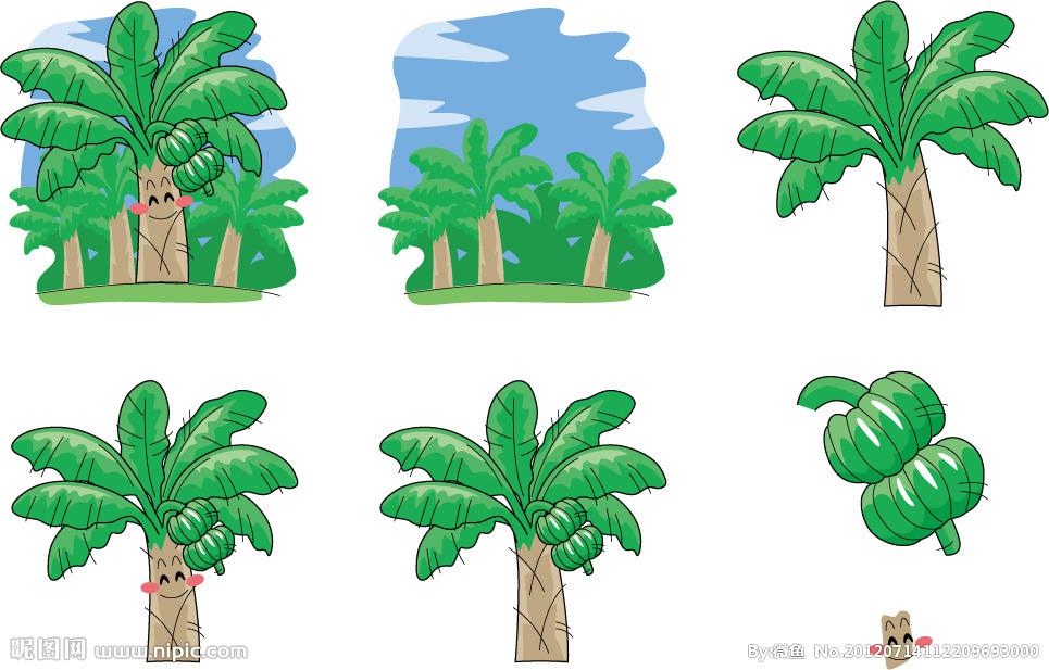 表情 手绘香蕉表情矢量图 水果 生物世界 矢量图库 昵图网nipic.com 表情