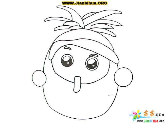 表情 果宝特攻 简笔画共17张 第2张 表情