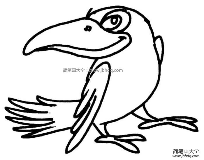 表情 乌鸦简笔画 乌鸦飞过动态qq表情 就要健康网 表情