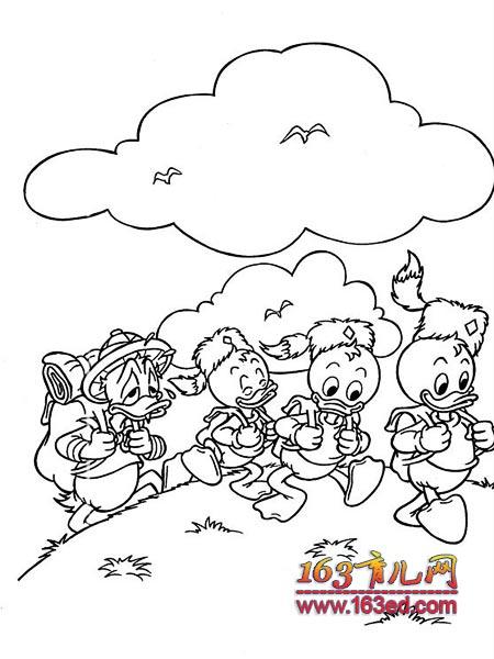 情 一起去爬山简笔画 一起去爬山图片欣赏 一起去爬山儿童画画作品