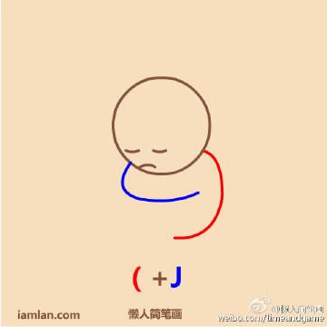 (+J 懒人简笔画 iamlan.com yweibo.coli/tirneu dyuus-表情 表情在手天下