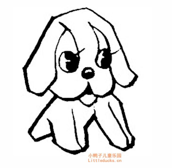 表情 幼儿简笔画图片大全 可爱的卡通小狗简笔画 8 动物简笔画狗,狗的简笔画  表情