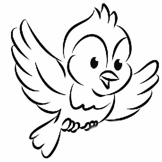 表情 展翅高飞的小鸟简笔画图片范例 育才简笔画 表情