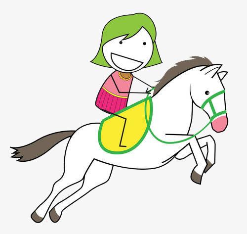 表情 卡通简笔画火柴人骑马的图片素材图片免费下载 高清png 千库网 图片编号  表情