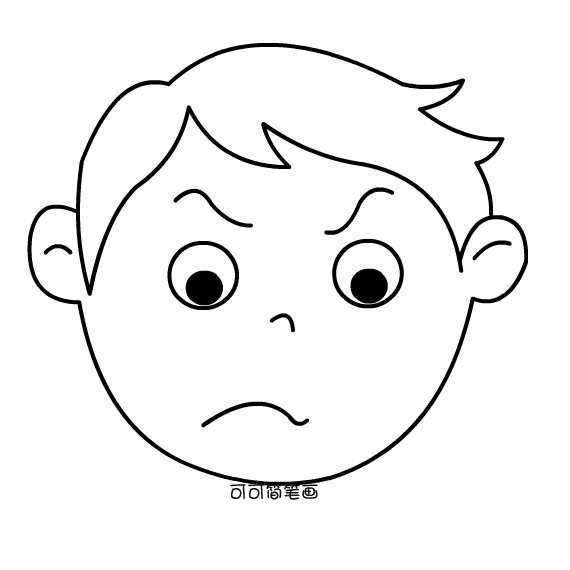 表情 男孩头像简笔画 奇趣后备箱 表情