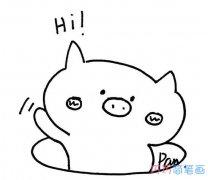 表情 小猪高兴表情怎么画简单可爱 卡通小猪简笔画图片 巧巧简笔画 表情
