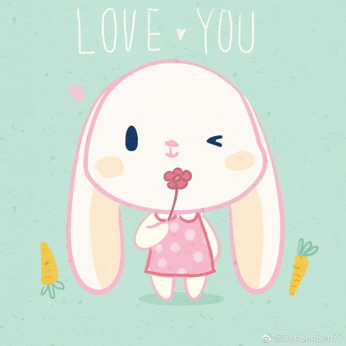 白兔陪伴你一起表白简笔画简笔画大全千千简笔画图片教程 表情