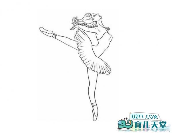 画芭蕾舞女孩简笔画,小女孩跳芭蕾舞简笔画 人物简笔画 育儿天堂