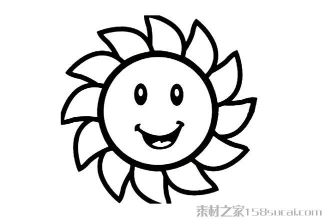 表情 卡通太阳笑脸简笔画图片小逗汇智幼教网 表情