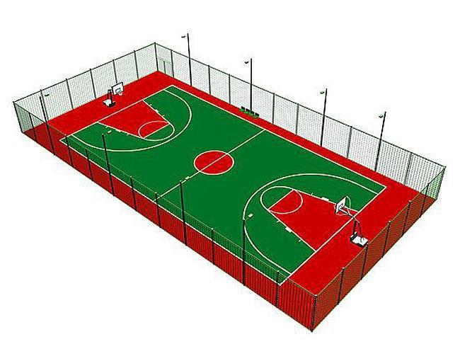 表情 标准篮球场手绘效果图 第1页 装修效果图大全 四座网 SIZUO.COM 表情