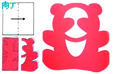 表情 熊猫剪纸简单步骤图解 图片大全 表情图片