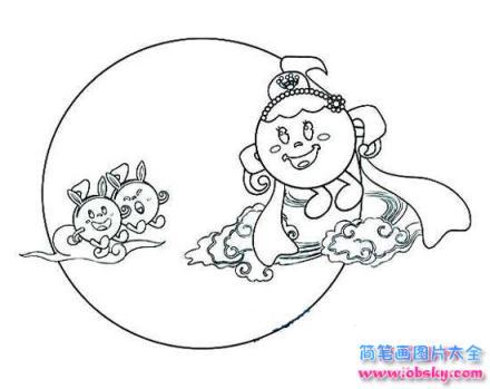 表情 怎么画儿童可爱的中秋节简笔画的教程 中秋节简笔画 儿童简笔画图片大全 表情