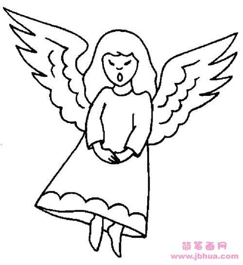 表情 儿童人物简笔画图片 天使 简笔画网 表情