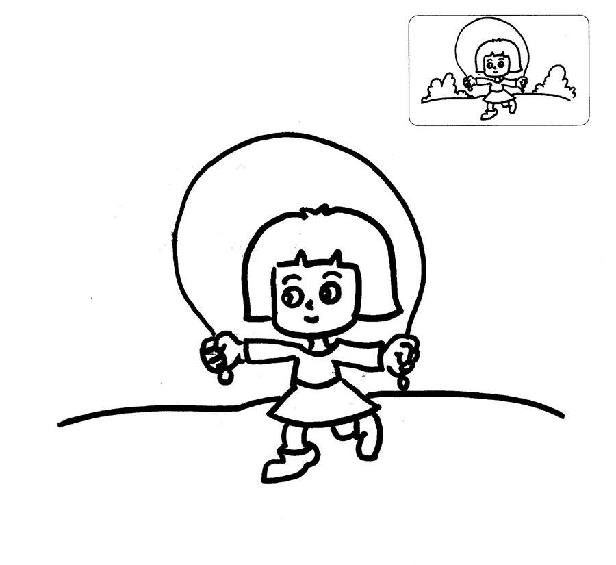 表情 跳绳人物简笔画 人物简笔画 61幼儿网 表情