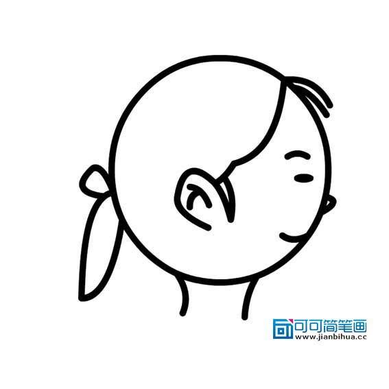 表情 示可可简笔画 www.jianbihua.cc 表情