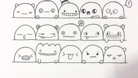 表情 简笔画表情图 15张 3 表情图片 表白图片网 表情