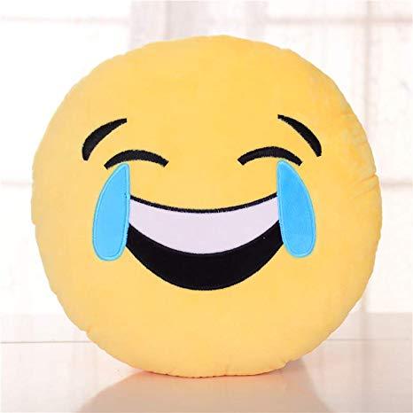 表情 表情包抱枕表情可插手emoji毛绒玩具公仔滑稽笑脸娃娃玩偶靠垫圆笑到哭  表情