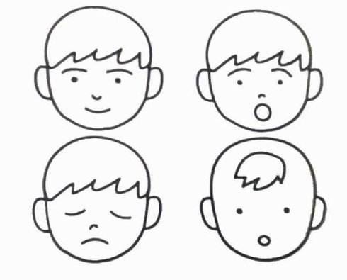 表情 表示人物表情的简笔画 表示人物表情的简笔画画法 表情