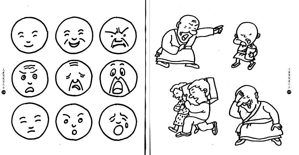 表情 儿童简笔画人物面部表情图片 肢体语言图 表情图片