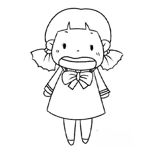 表情 简笔画人物图片 哭泣的小女孩 哭泣的小女孩简笔画人物简笔画 小鸭子  表情