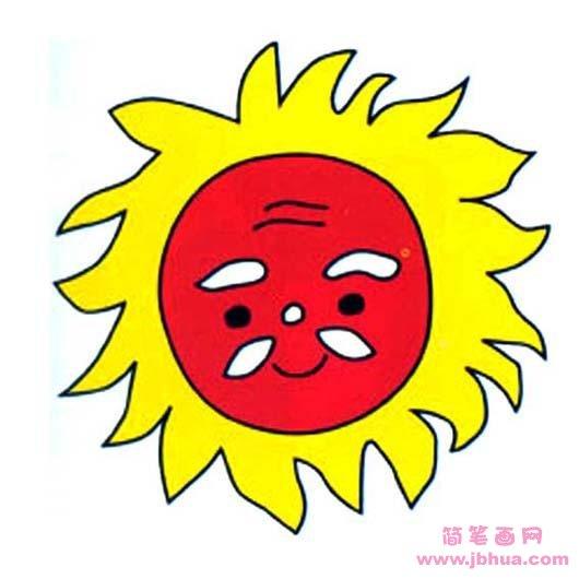 表情 儿童太阳公公简笔画 简笔画网 表情