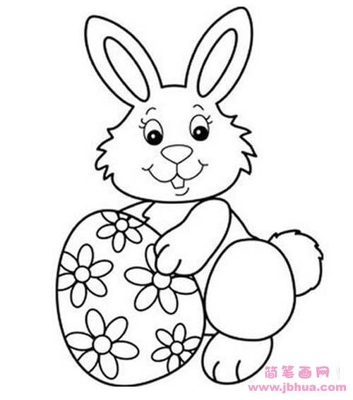 表情 幼儿复活节兔子简笔画图片 简笔画网 表情