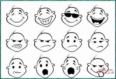 表情 可爱超萌表情符号简笔画图片 表情