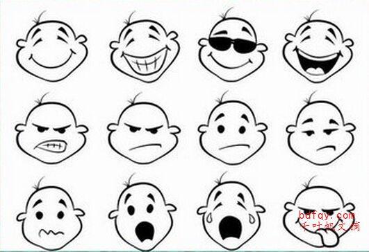 表情 可爱表情水果简笔画 表情